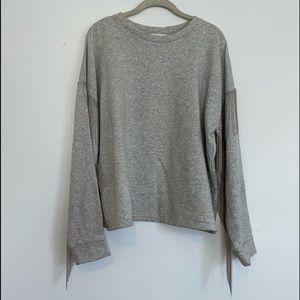 H&M beaded fringe tassel pullover sweatshirt Large